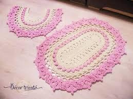 badezimmer teppich set rosa bad matte gestrickte toilette matte oval häkeln teppich kleine matte badezimmer teppich set ostern geschenk