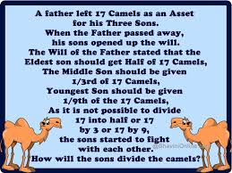 How Can The Sons Divide Camels Among Themselves