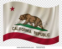 Waving Flag Of California Is A State USA Vector Illustration