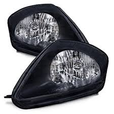 mitsubishi eclipse black headlights headls set new