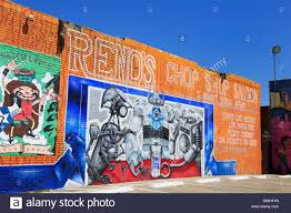 mural deep ellum district dallas texas usa stock photo