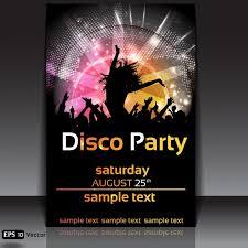 Disco Party Poster Design Free Vector