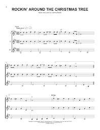 Who Sings Rockin Around The Christmas Tree by Sheet Digital Files To Print Licensed Johnny Marks Digital