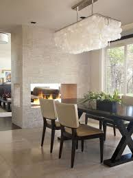 Contemporary Living Dining Room See Through Fireplace Houzz