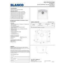 Undermount Bar Sink White by Blanco 440205 Diamond White Drop In Or Undermount Single Bowl Bar
