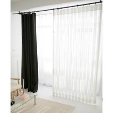 white vertical stripes sheer curtain voile panel