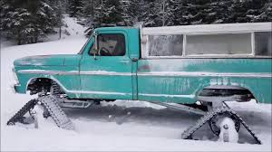 1967 12 Valve Cummins Swapped Ford On Tracks In Snow. - YouTube American Track Truck Car Suv Rubber System Mattracks Snow Tracks You Can Buy The Snocat Dodge Ram From Diesel Brothers On 1985 Asv 2500 Bolton Tracks Turn Jeeps Into Snowmobiles In 15 Minutes Litetrax Home Lite Trax Systems Woodys Mini Trucks Gmc Sierra All Mountain Concept Is Designed To Dominate Snow Roadshow Ski Double Electric Scooter Mobile For Children Sovietera Screwpropelled Truck Returns Fox News Brilliant Transformational Transportation Design The N Go Pickup Right Int