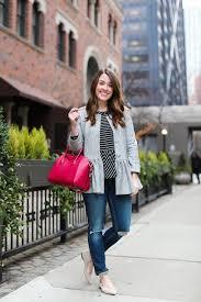 Sequins And Stripes Blogger T Shirt Jacket Jeans Bag