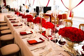 Fascinating Red Wedding Table Settings