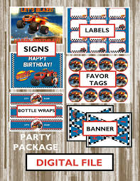 Blaze And The Monster Machines Theme Birthday Party Package-INSTANT ... Mr Vs 3rd Monster Truck Birthday Party Part Ii The Fun And Cake Monster Truck Food Labels Mrruck_party_invitions_mplatesjpg Unique Free Printable Grave Digger Invitations Gallery Marvelous Ideas At In A Box Cool Blue Card Truck Birthday Blaze The Machine Invitation On Design Of Jam Ticket Style Personalized 599 Sophisticated Photo Christmas Card