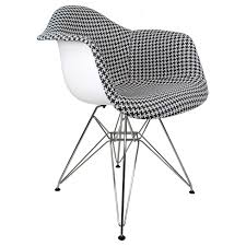 Houndstooth Pattern Woven Fabric Upholstered White Eames Style ... Zuo Modern Waldorf Ding Chair Set Of 2 Houndstooth Disc Powell And Bonnell Tan Wing Chairish White Leather Lounge With Graphic Panels No14 Armchair Pattern By Christian Watson Print Rattan Cane Medallion Louis Maisons Du Patterned Casual 33quot In Brown Mathis Explorer Accent Dfs Ireland Indoor Chairs Unique Cow Hide Zebra Oversized Whiteacrylic Twist Shop Zoe Fabric Arm Free Shipping Today Crawford Houndstooth Apt2b