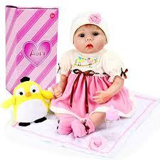 Realistic Reborn Doll Lifelike Handmade Soft 22 Inch Baby Girl With