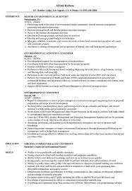 Download Environmental Scientist Resume Sample As Image File