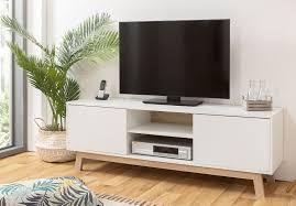 apart tv lowboard mit türen weiß eiche sonoma