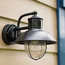 outdoor wall mounted lighting the home depot regarding with motion