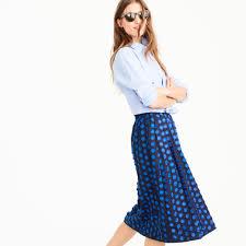 midi skirt in fringe dot women a line midi j crew