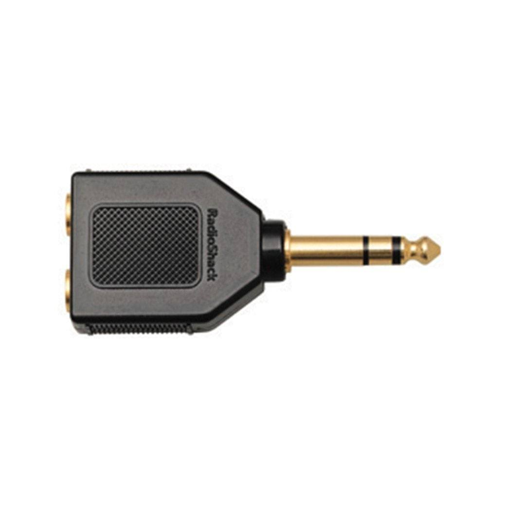 RadioShack Stereo Headphone Plug Adapter - Gold Plated, 1/4""