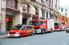 100 Red Fire Trucks Ghent Belgium April 16 2017 Three Red Fire Trucks In City