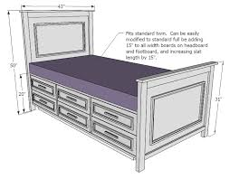 ana white build a fillman storage bed with drawers free and