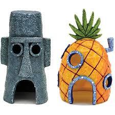 Star Wars Themed Aquarium Safe Decorations by Penn Plax Spongebob Homes Assorted Aquarium Decoration Decoration