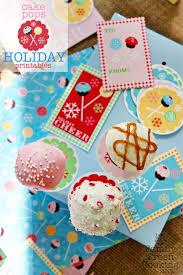 freebie DIY Cake Pop Holiday Printables on MarlaMeridith