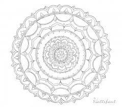 Hattifants Stress Relief Doodle Mandala