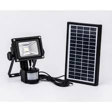 projecteur solaire à détecteur de mouvement 800 lumens eclairage