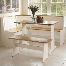 English Breakfast Nook Large Corner Booth Dining Kitchen Table Set With Storage