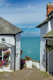 100 Sea Can Houses A Narrow Picturesque Street In The Small And Beautiful Village
