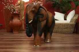 elefant figur statue skulptur holz massiv akazie