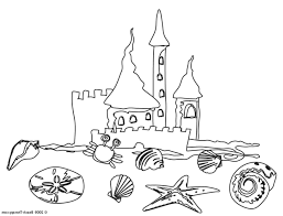 Beach Coloring Pages Free Inside At The