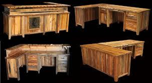 Rustic Office Furniture Desks L 20 Shaped Barnwood Desk Imaginative