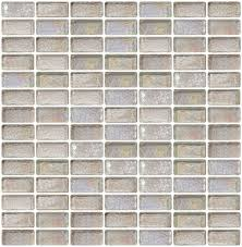 glass tile 3 4 x 1 1 2 inch clear iridescent glass subway tile