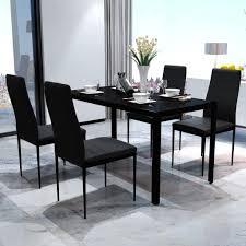 jeobest esszimmerstühle 4stk hochlehner esszimmer kunstleder leder polster stuhl schwarz