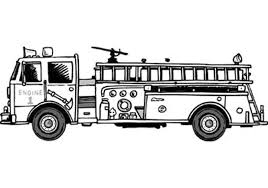 100 Black Fire Truck S Coloring Pages