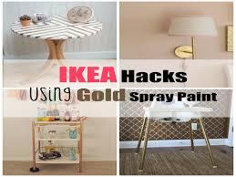 Ikea Furniture Hacks New Ikea Hacks Using Gold Spray Paint A Spark
