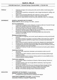 Restaurant Manager Resume Objective Unique Example