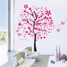Pochoirs Chambre Bé Lh584 165 175 Cm Coeur Papillon Fleur Arbre Amovible étanche