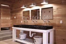 Industrial Modern Bathroom Mirrors by Trough Style Sink Bathroom Contemporary With Bathroom Mirror Black