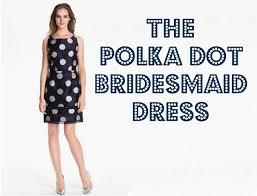polka dot bridesmaid dresses rustic wedding chic