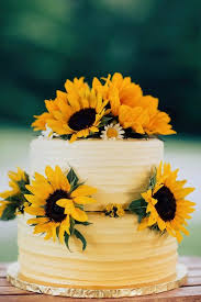 Excellent Wedding Cakes With Sunflower Decoration 43 For Reception Table Decorations