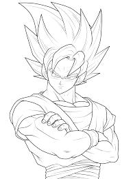 Goku Coloring Pages Dragon Ball Z Kids