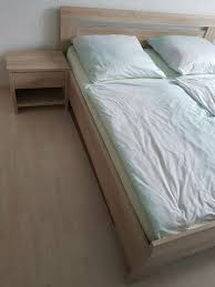 schlafzimmer komplett bett 2x nachtische kleiderschrank