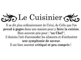 chef de cuisine definition le cuisinier atmosphère citation