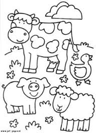 Farm Animals Coloring Sheets For Theme Based Linguistic Approach