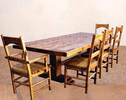 Mission Style Dining Room Quarter White Oak Craftsman Table Base Designed And Built By Silent