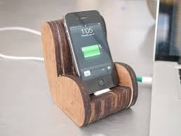 Introduction Wooden Comfy Chair IPhone Dock