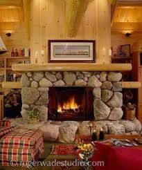 river stone fireplace anywhere fireplaces pinterest river