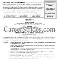 Lvn Nursing Resume Examples Nurse Template Samples