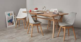 2 x thelma dining chairs oak and grey made com